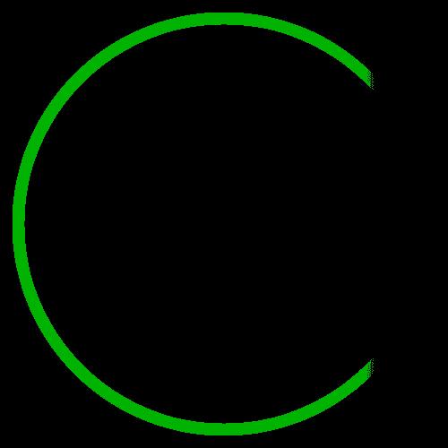 green circle