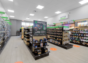 products aisles in a Batteries Plus store