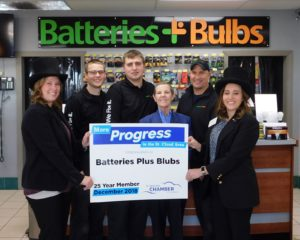 Bernie Perryman and her Batteries Plus franchise team
