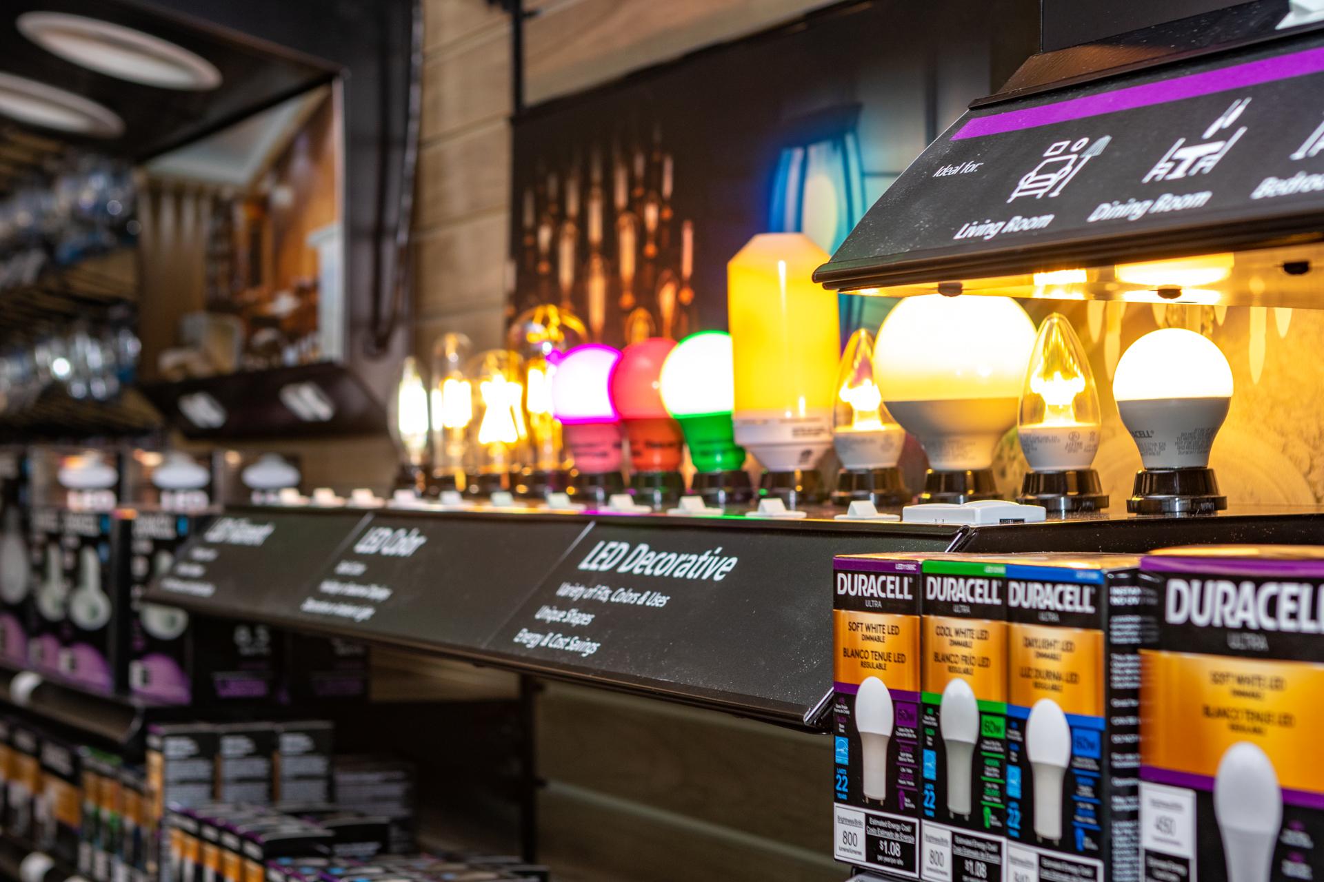Lightbulb showcase