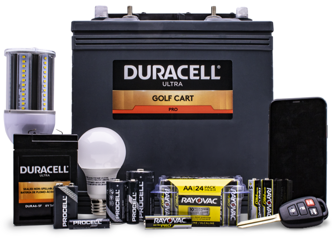 batteries and light bulbs sold in Batteries Plus