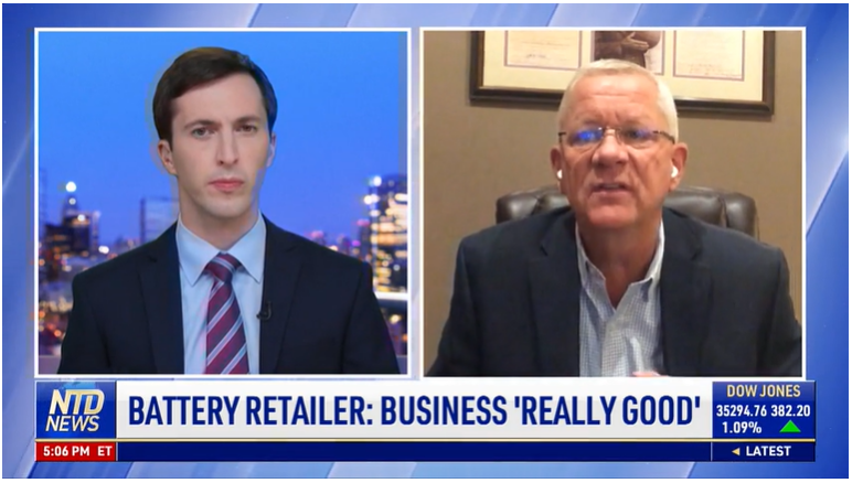 Battery Retailer: Business 'Really Good'